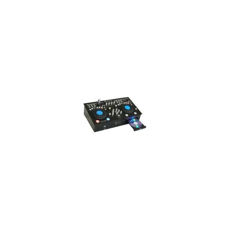 stx 120 double lecteur cd mp3 usb sd amplified kitsat. Black Bedroom Furniture Sets. Home Design Ideas
