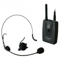 SkyTecEnsemble émetteur de poche VHF avec micro cravate et micro serre-tête 200,175 MHz