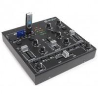 SkyTecSTM-2250 Mini table de mixage 4 canaux USB MP3 Effets Sound