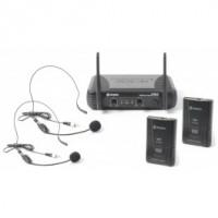 SkyTecSTWM712H Système sans fil VHF 2 canaux avec serre-tête