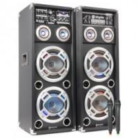 """SkyTecSPD-28V Set enceintes actives 2x8"""" USB/VHF"""