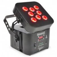BeamZ Professional	Wi-Par Projecteur 8x LEDs 3 W Tri-color, batterie, 2,4GHz DMX