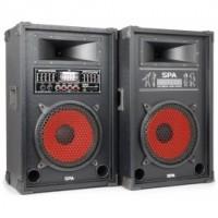 "SkyTecSPA1000 PA Set d'enceintes actives 10"" SD/USB/MP3"