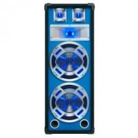 "SkyTecEnceinte Disco 2x 8"" 600 W LED"