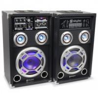 """SkyTecKA-08 Set d'enceintes actives 8"""" USB/RGB LED 600 W"""