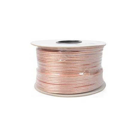 PD ConnexCâble haut-parleur, 2x4,0 mm, transparent, 100 m
