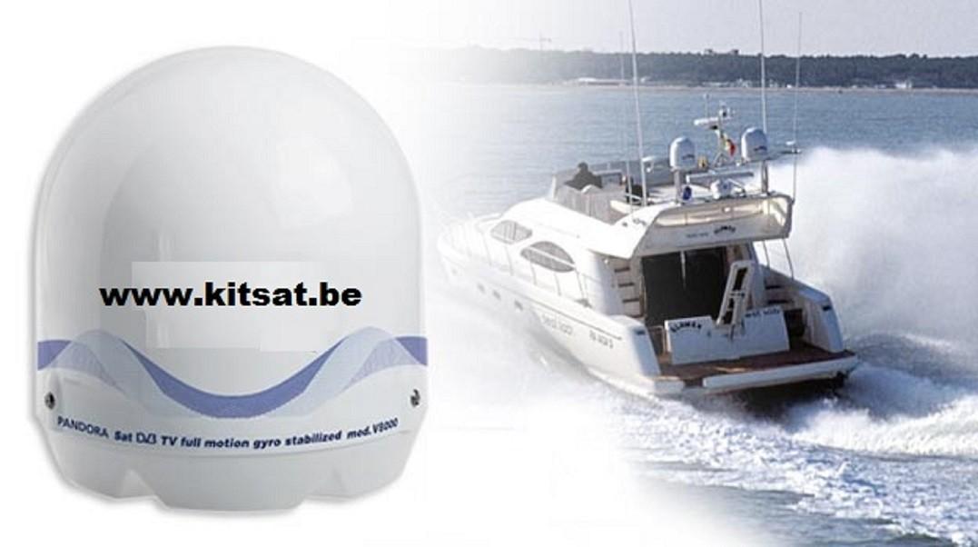 antenne satellite motorisée pour bateau
