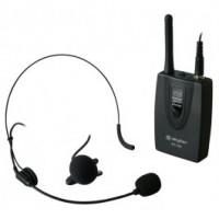 SkyTecEnsemble émetteur de poche VHF avec micro cravate et micro serre-tête 201,400 MHz