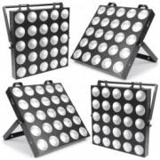 BeamZ ProfessionalMadMax Set de 4 matrices 25 LEDs COB + Flightcase